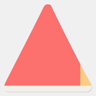 Sticker Triangulaire Livre rouge