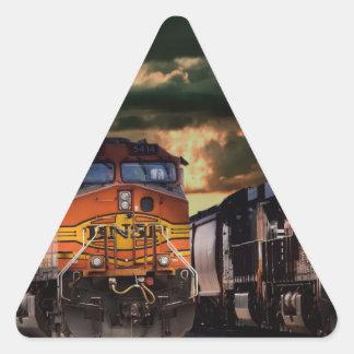 Sticker Triangulaire Locomotives puissantes prêtes à transporter