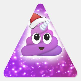 Sticker Triangulaire Lueur mignonne d'Emoji de dunette de licorne de