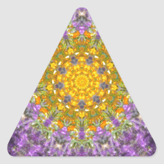 Sticker Triangulaire Lueur pourpre