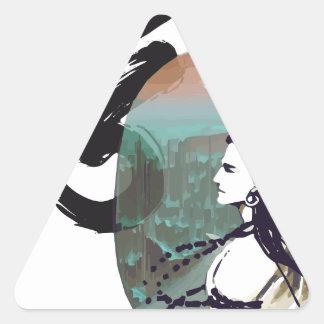 Sticker Triangulaire Lune Shiva en hausse