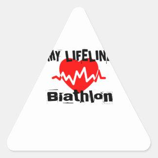 Sticker Triangulaire Ma ligne de vie biathlon folâtre des conceptions