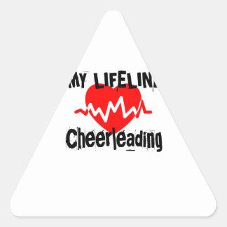 Sticker Triangulaire Ma ligne de vie conceptions Cheerleading de sports