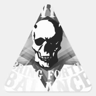 Sticker Triangulaire Mal nécessaire