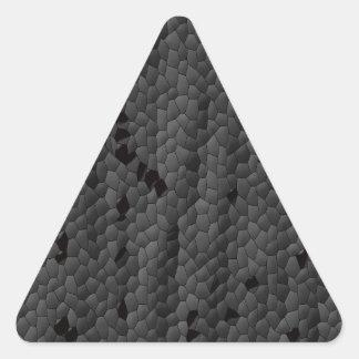 Sticker Triangulaire Mamba noir dans illustré, art