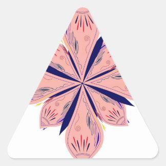 Sticker Triangulaire Mandalas d'or de rosé