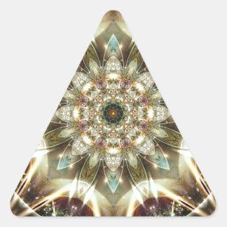 Sticker Triangulaire Mandalas du coeur du changement 10, articles de