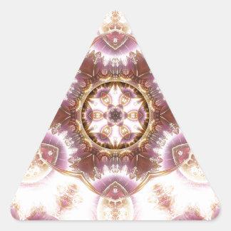Sticker Triangulaire Mandalas du coeur du changement 14, articles de