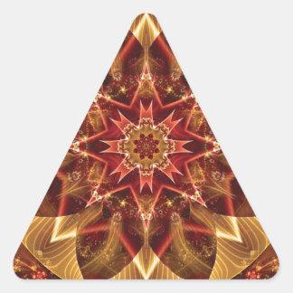 Sticker Triangulaire Mandalas du coeur du changement 15, articles de