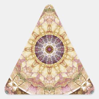 Sticker Triangulaire Mandalas du coeur du changement 2, articles de