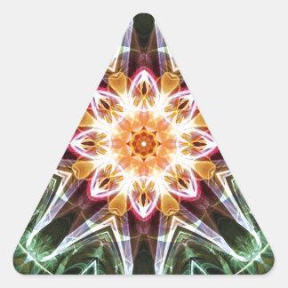 Sticker Triangulaire Mandalas du coeur du changement 5, articles de