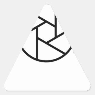Sticker Triangulaire Mangez. Sommeil. Photographie. Appareil-photo
