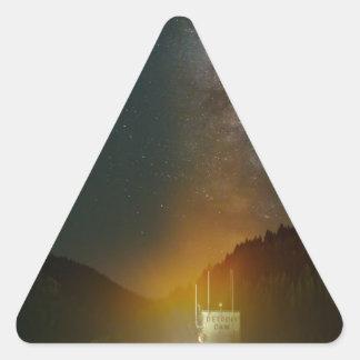 Sticker Triangulaire Manière laiteuse au-dessus de barrage de Detroit