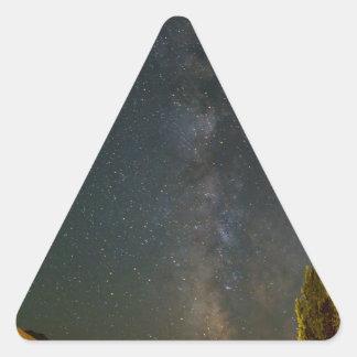 Sticker Triangulaire Manière laiteuse au-dessus des terres cultivables