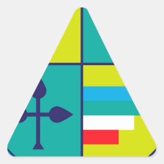 Sticker Triangulaire Manteau des raisins de bras et de bouclier de
