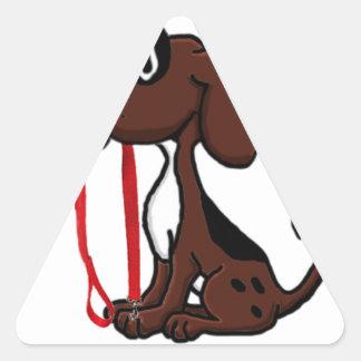 Sticker Triangulaire Marcheur professionnel de chien