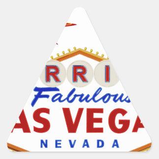 Sticker Triangulaire Marié à Las Vegas fabuleux, enseigne au néon du
