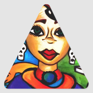 Sticker Triangulaire Marie Laveau