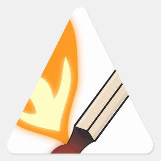 Sticker Triangulaire Match flamboyant