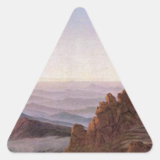 Sticker Triangulaire Matin dans Riesengebirge - Caspar David Friedrich