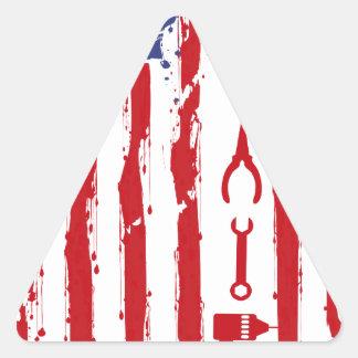 Sticker Triangulaire Mécanicien - le commerce d'entretien de voiture de
