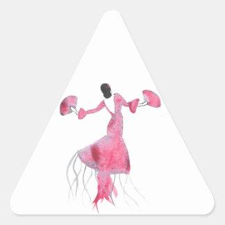 Sticker Triangulaire Méduses de flamenco - Sabrina