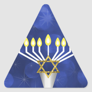 Sticker Triangulaire Menorah