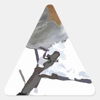 Sticker Triangulaire merle rouge #2