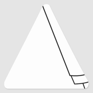 Sticker Triangulaire Microphone avec le fil