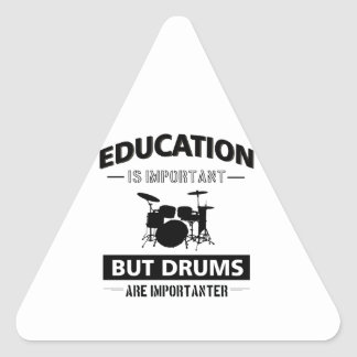 Sticker Triangulaire Mise en tambour drôle