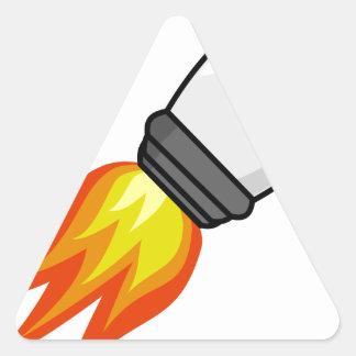 Sticker Triangulaire Missile de Rocket