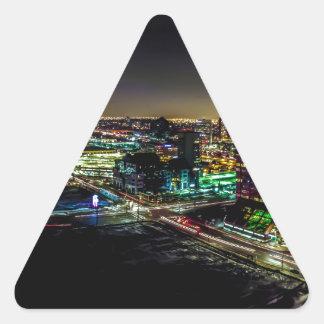 Sticker Triangulaire Mississauga, Ontario la nuit