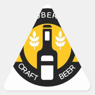 Sticker Triangulaire Modèle de conception de logo de bière de métier