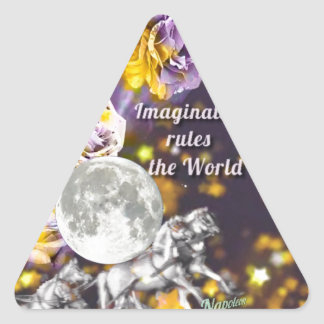Sticker Triangulaire Mon imagination est sans fin
