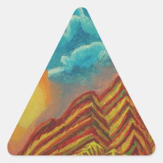 Sticker Triangulaire Montagne rayée