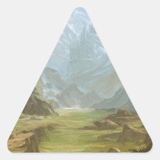 Sticker Triangulaire Montagnes et neige
