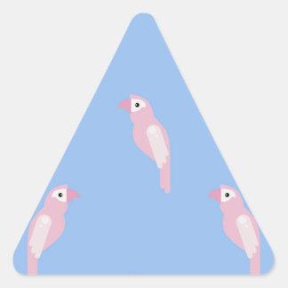 Sticker Triangulaire Motif coloré sans couture de vecteur d'arums de