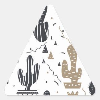 Sticker Triangulaire Motif de cactus