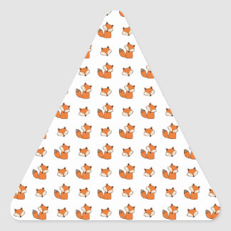 Sticker Triangulaire motif de renards rouges