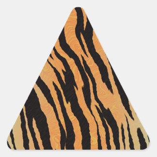 Sticker Triangulaire Motif de tigre