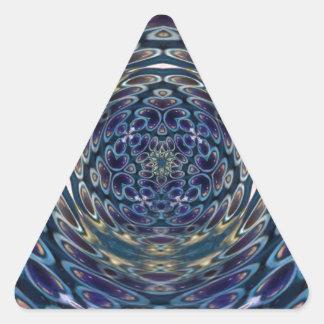 Sticker Triangulaire Motif portail d'atome psychédélique