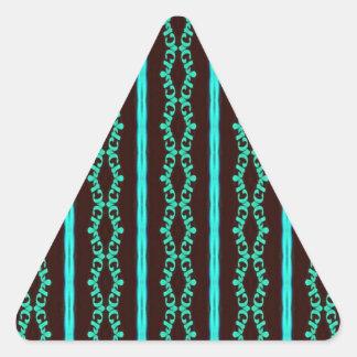 Sticker Triangulaire Motif rayé turquoise au néon moderne