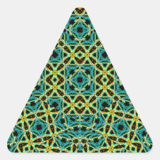 Sticker Triangulaire Motif sans couture d'arabesque