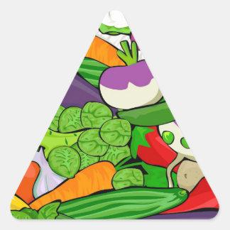 Sticker Triangulaire Motif végétal