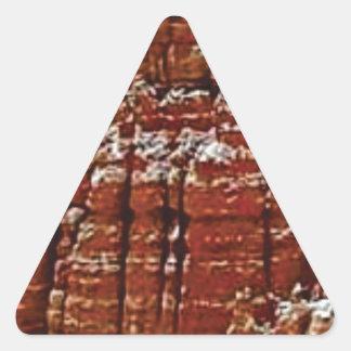 Sticker Triangulaire mur de roche de forme de forme d'érosion