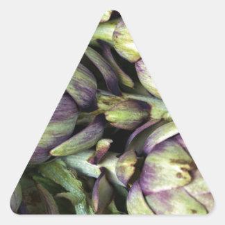 Sticker Triangulaire Natures mortes siciliennes avec des artichauts