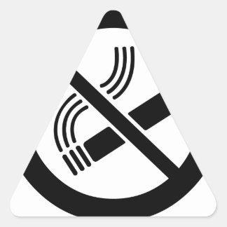 Sticker Triangulaire Non-fumeurs