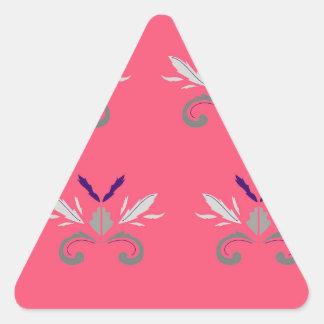 Sticker Triangulaire Nostalgie rose de luxe d'éléments