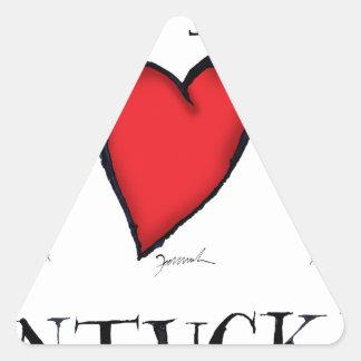 Sticker Triangulaire nous aimons le nantucket
