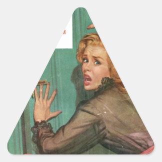 Sticker Triangulaire N'ouvrez pas cette porte !